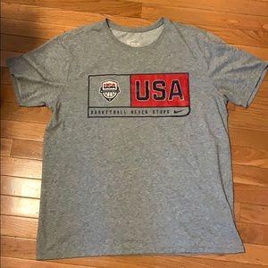 Men's Nike Team USA basketball Dri-fit shirt